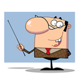 Business Manager Gesturing With A Pointer Stick vector image vector image