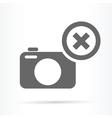 camera delete symbol icon vector image vector image