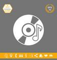 cd dvd with music symbol icon graphic elements vector image vector image