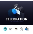 Celebration icon in different style vector image