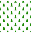 christmas fir tree green art seamless pattern on vector image vector image