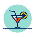 cocktail drink color icon vector image