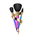 colorful make-up brushes vector image vector image