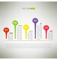 Colorful timeline template infographic suitable vector image vector image