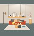 contemporary living room interior empty no people vector image
