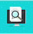 corporations bylaws online analysis inspection vector image vector image