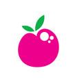 creative single cherry logo design vector image vector image