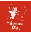 Cupid on the retro love background vector image vector image