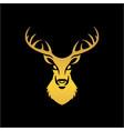 deer head logo template animal vector image
