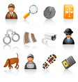 detective agency icons vector image