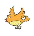 digitally drawn flying bird design hand drawing vector image