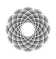 dots flower mandala black vector image vector image