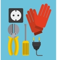 electricity service vector image