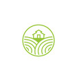 farm fresh and landscape field logo designs vector image vector image