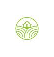 farm fresh and landscape field logo designs vector image