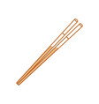 food chopsticks isolated vector image