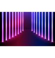 glowing neon lines direction in perspective vector image vector image