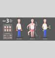 gymnastics grandpa dumbbells exercises vector image