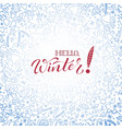 hand drawn doodle seamless background in winter vector image