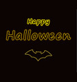 happy halloween light effect transparent yellow n vector image vector image