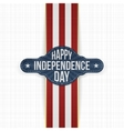 Happy Independence Day Label with Ribbon vector image vector image