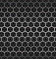 hexagon metal grill seamless background vector image vector image