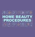 home beauty procedures word concepts banner