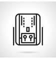Home heating system black line icon vector image vector image