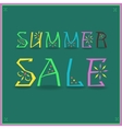 Inscription Summer Sale vector image vector image