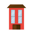 isolated big house vector image vector image