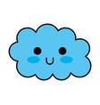kawaii cloud funny cartoon decoration vector image vector image