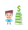 Knowledge about money vector image