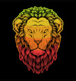 lion head colorful vector image vector image