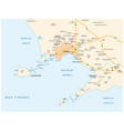 map gulf naples in italian language vector image vector image