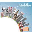 medellin colombia city skyline with gray vector image vector image