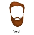 Men cartoon hairstyles with beards and mustache vector image vector image