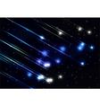 Meteor shower in space vector image