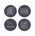 Microwave oven dishwasher and kitchen hood vector image