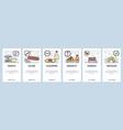 mobile app onboarding screens italian cuisine vector image