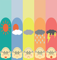 Moods Cute Pastel OldMan vector image vector image