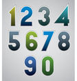 numbers bold numerals made in web buttons style vector image vector image
