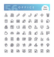 office line icons set vector image