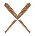 pair of baseball bats vector image vector image