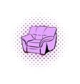Pink armchair comics icon vector image vector image
