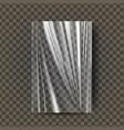 plastic polyethylene transparent vector image vector image