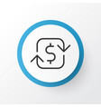 refund money icon symbol premium quality isolated vector image