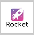 rocket logo icon vector image vector image