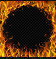 round frame made fire vector image