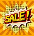 sale word comic book pop art vector image