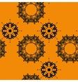 Seamless outlined mandlal like wallpaper design vector image